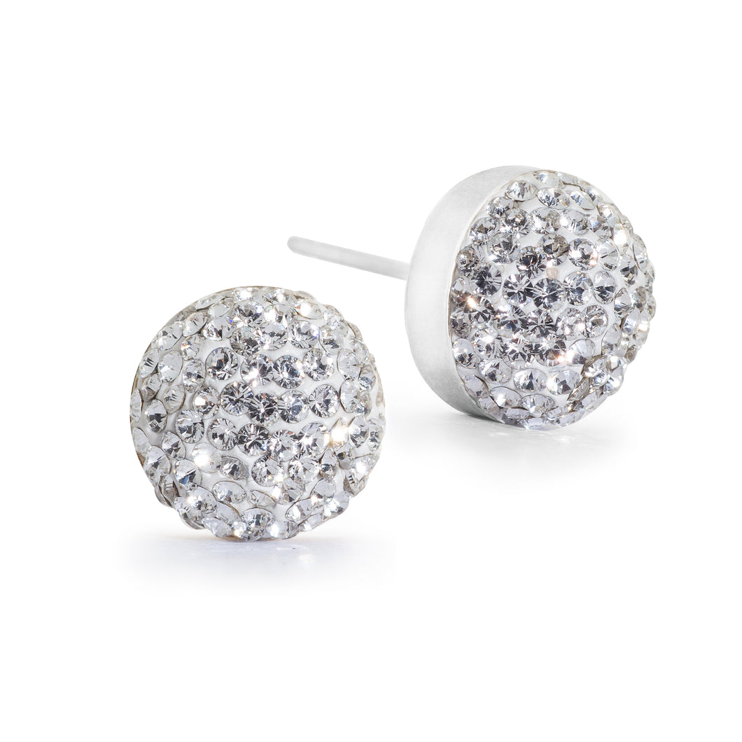 Large Crystal Stud Earrings (10 Colours)