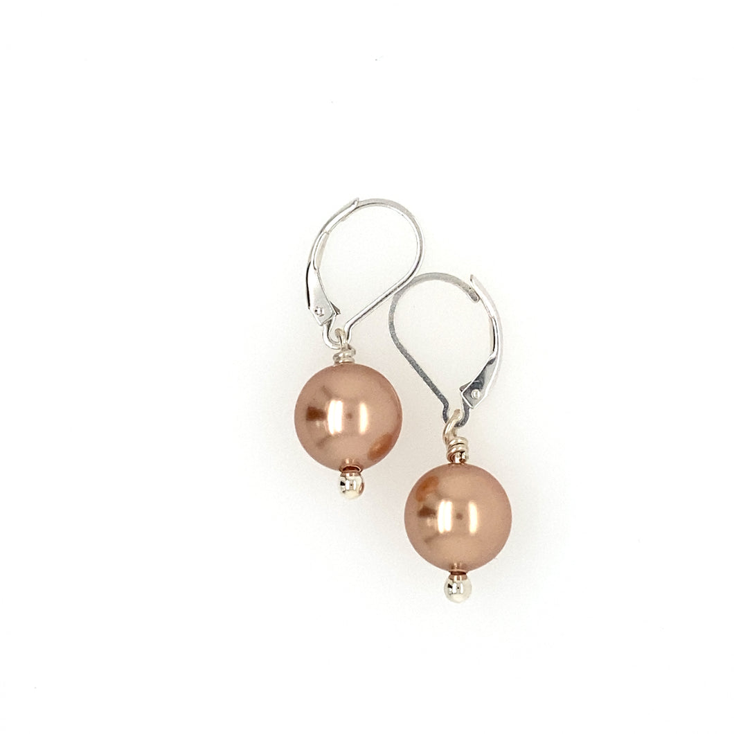 Interchangeable Pearl Lever Back Earrings (10 Colours)