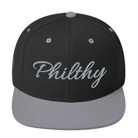 Black & Silver Philthy Snapback