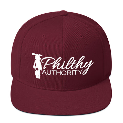 Maroon Philthy Authority Snapback