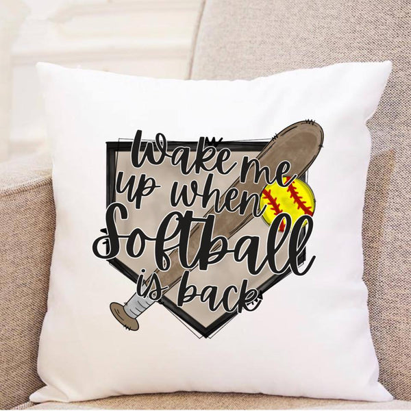 Wake Me Up When Softball is Back - Pillow