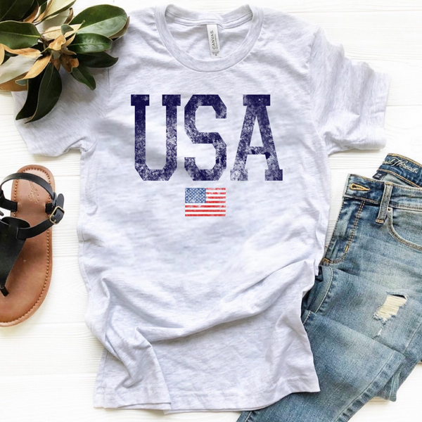 USA w/Flag - Ash Grey