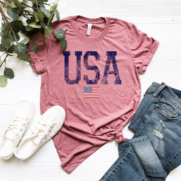 USA w/Flag - Mauve