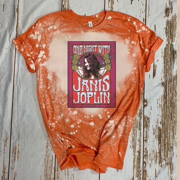 One Night With Janis Joplin - Acid Wash Orange