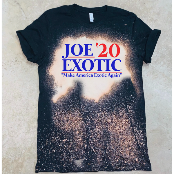 "Joe Exotic '20 ""Make America Exotic Again"" - Acid Wash Black"