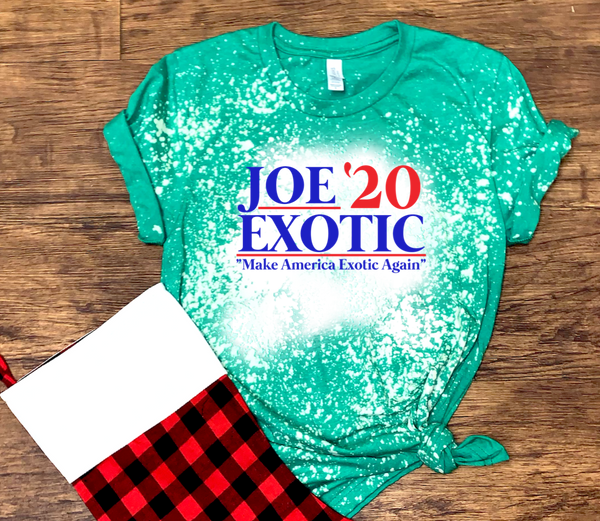 "Joe Exotic '20 ""Make America Exotic Again"" - Acid Wash Green"