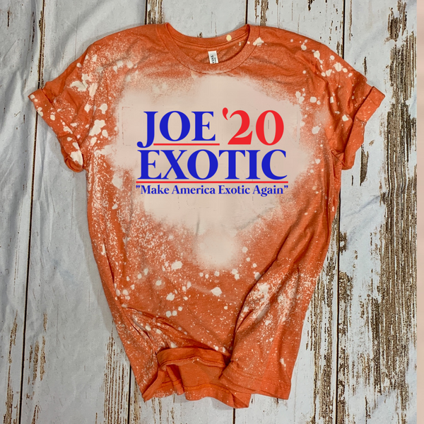 "Joe Exotic '20 ""Make America Exotic Again"" - Acid Wash Orange"