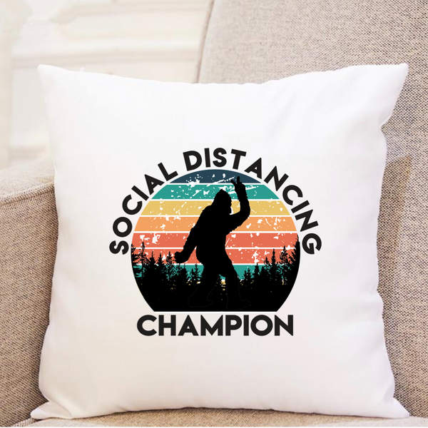 Bigfoot - Social Distancing Champion - Pillow