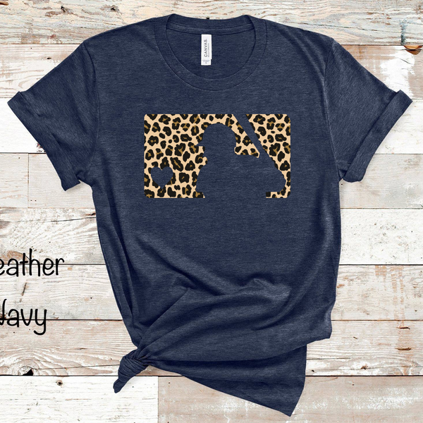 MLB Cheetah Baseball - Heather Navy
