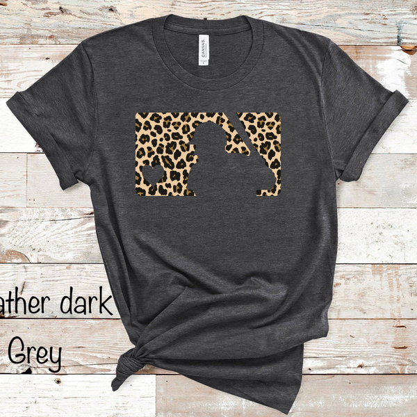 MLB Cheetah Baseball - Heather Dark Grey