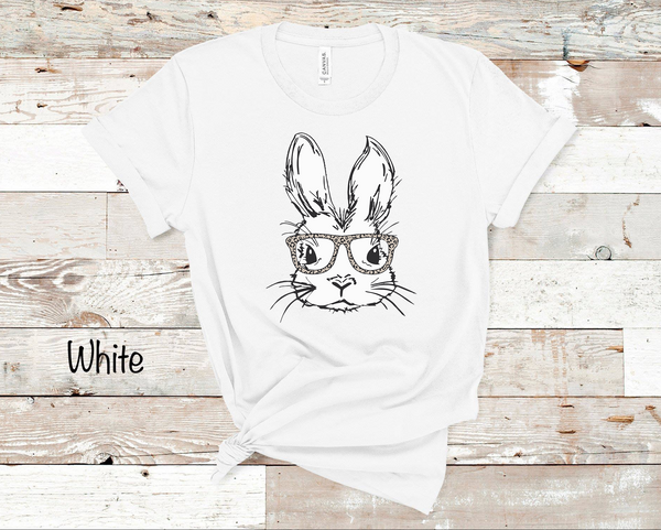 Hipster Bunny - White