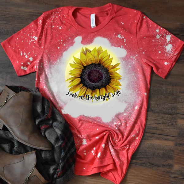 Look on the Bright Side - Sunflower - Acid Wash Red