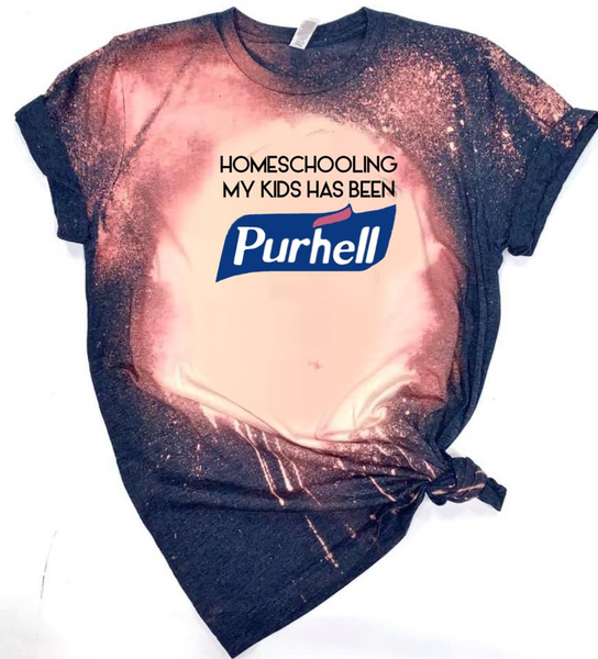 Homeschooling My Kids Has Been Purhell - Acid Wash Navy