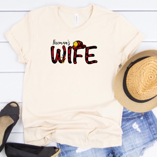 Fireman's Wife w/Red Leopard - Cream