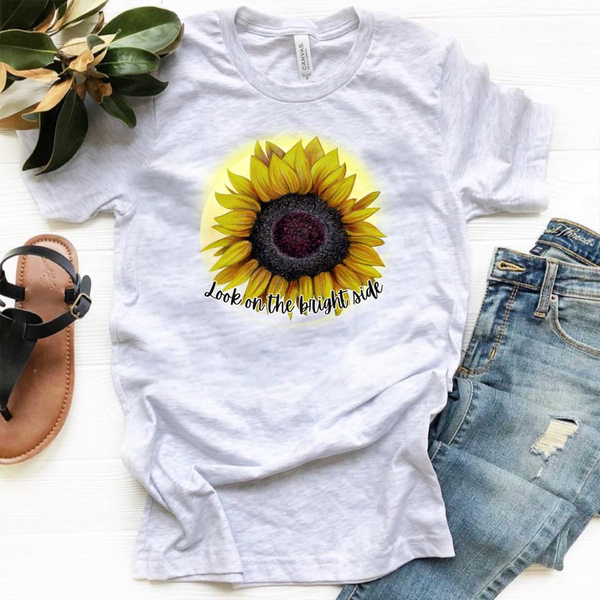 Look on the Bright Side - Sunflower - Ash Grey