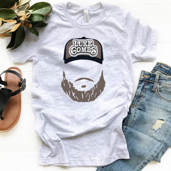 Luke Combs - Beard & Hat