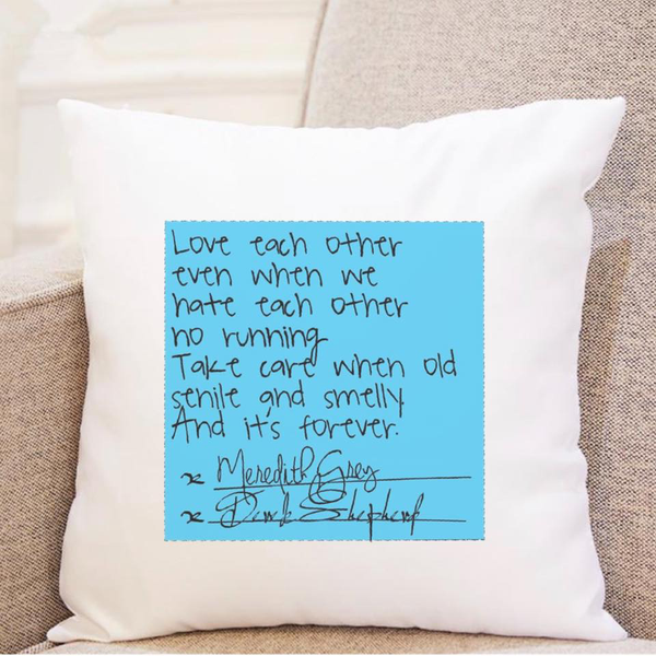 Grey's Anatomy - Love Contract - Pillow
