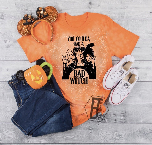 You Could of Had a Bad Witch - Orange - Acid Wash