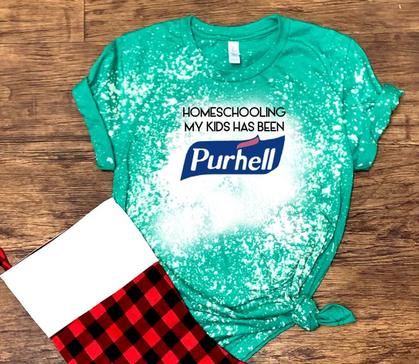 Homeschooling My Kids Has Been Purhell - Acid Wash Green