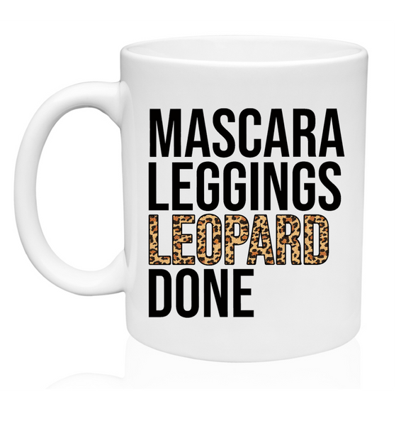 Mascara Leggings Leopard Done - 11oz Mug