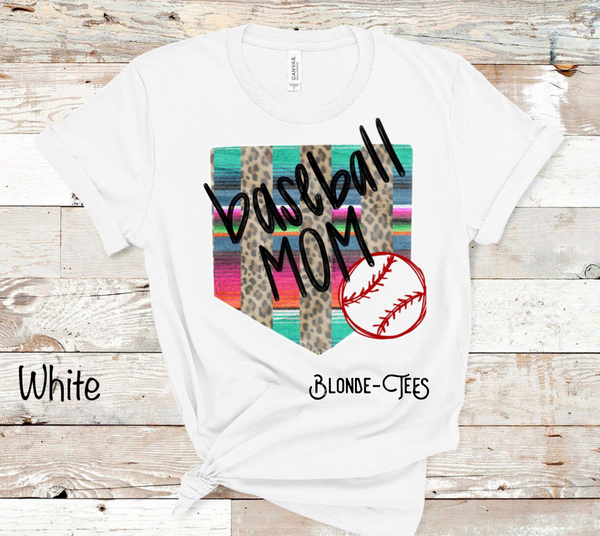 Baseball Mom - Leopard & Serape