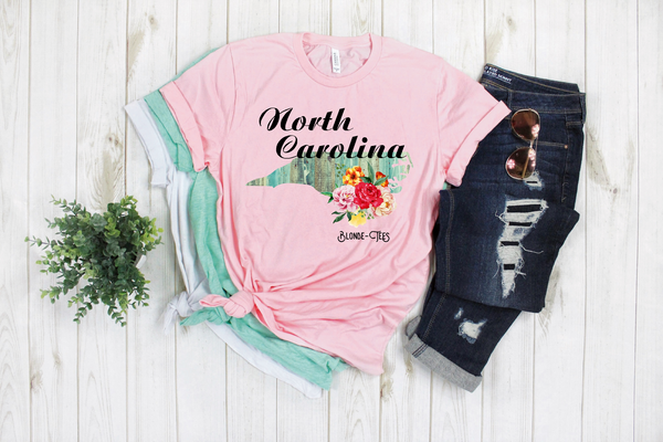 North Carolina - Light Pink