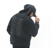 FADED HOODIE - BLACK/3M REFLECTIVE