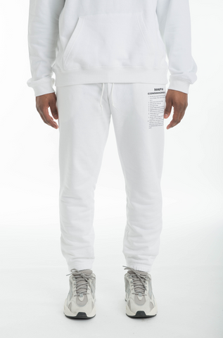 M4F14 SWEATPANTS - WHITE