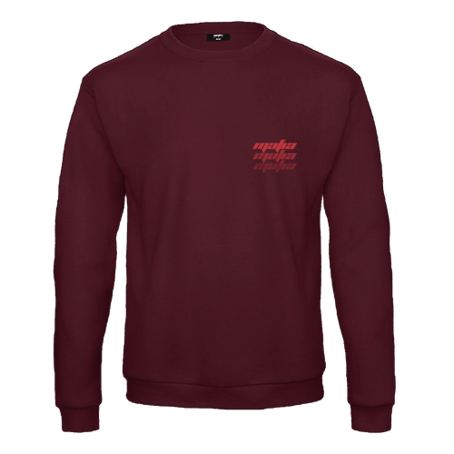 FADED SUMMER CREWNECK - BURGUNDY/RED