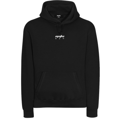 FADED HOODIE - BLACK/WHITE