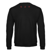 FADED SUMMER CREWNECK - BLACK/RED