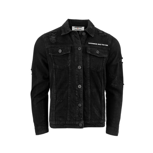 WE ALL DIE SOMEDAY DENIM JACKET - BLACK