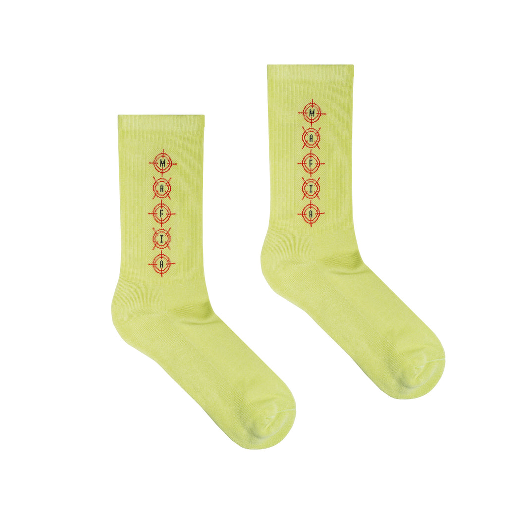 WE ALL DIE SOMEDAY SOCKS - FROZEN YELLOW