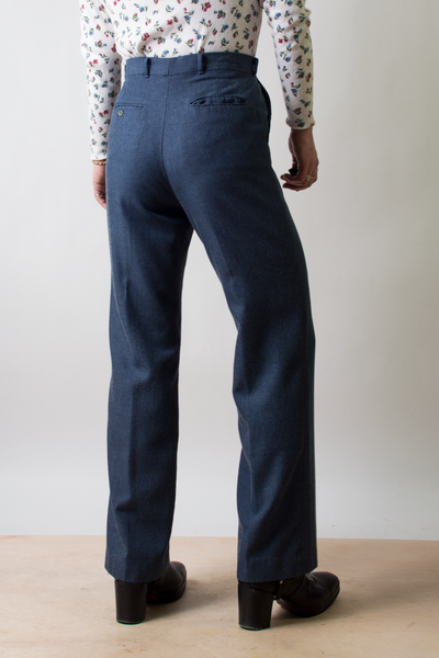 vintage dark blue wool trousers