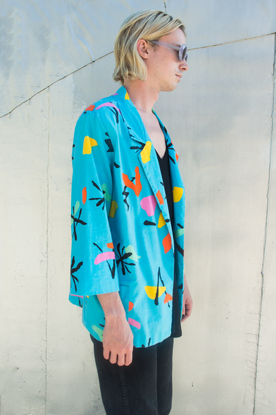 retro jacket in vintage print