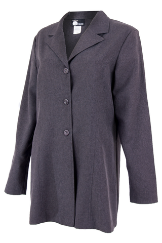 Vintage grey coat with peaked lapel collar