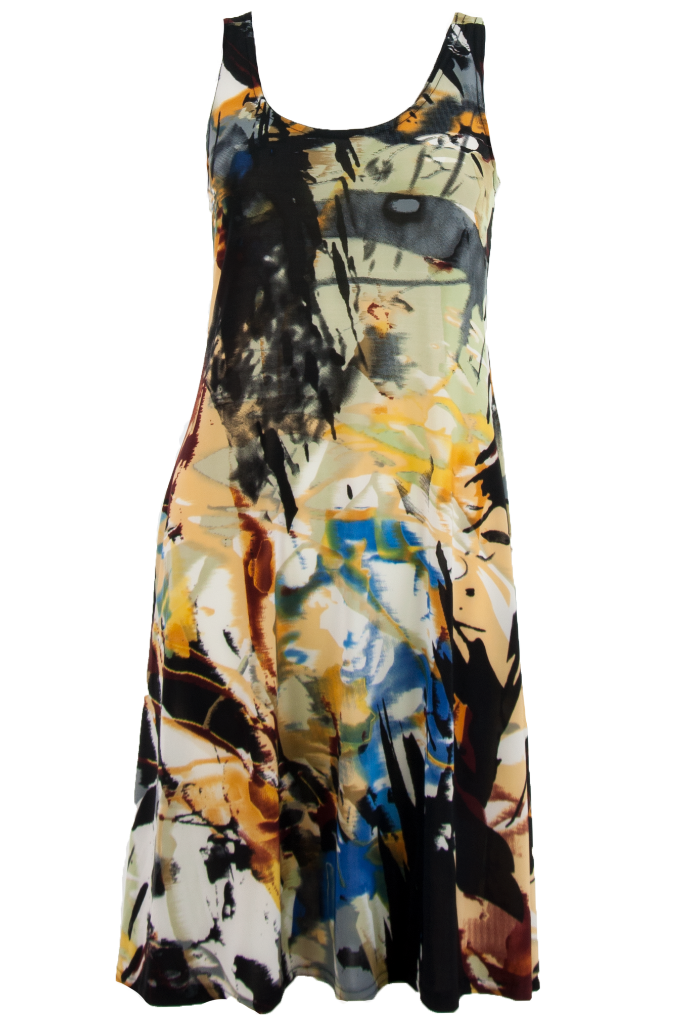 vintage dress with paint splatter print
