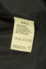 a.p.c. fabric tag
