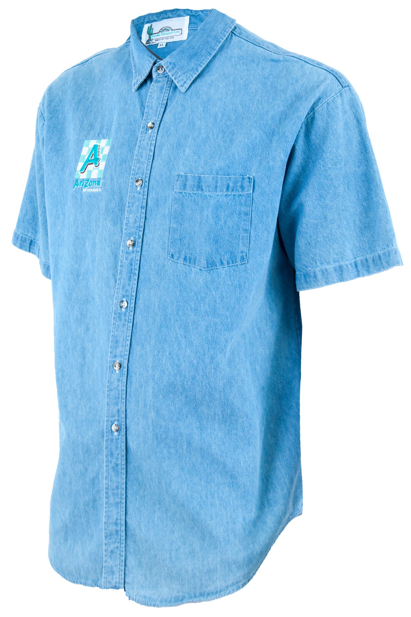 arizona ice tea shirt with short sleeves in denim blue