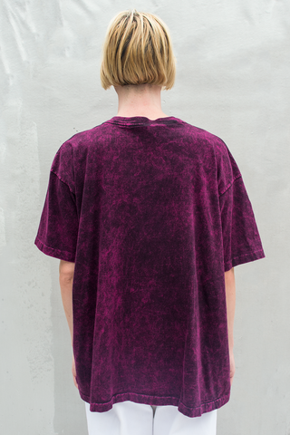 vintage acid wash Aruba t-shirt in magenta