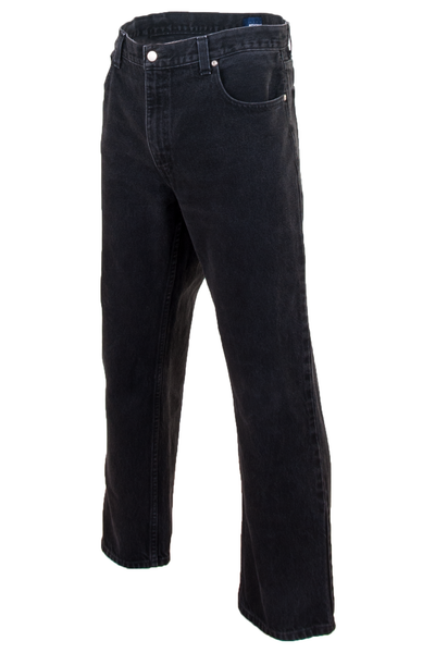 mens vintage black jeans with straight leg