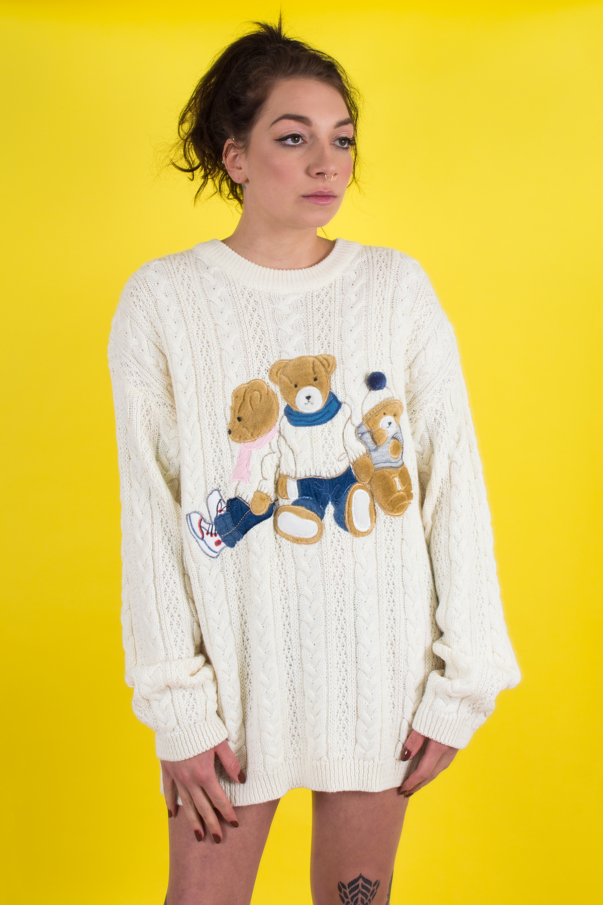 Vintage teddy bear sweater
