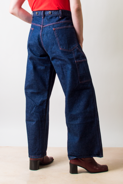 vintage dark blue flared jeans