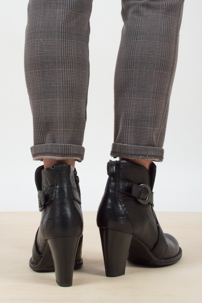 black leather booties from BORN shoes