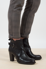 black leather booties from BORN
