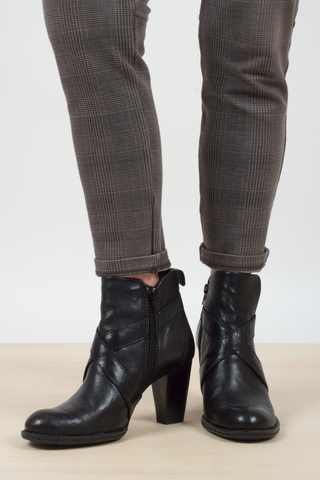 black leather booties from BORNS