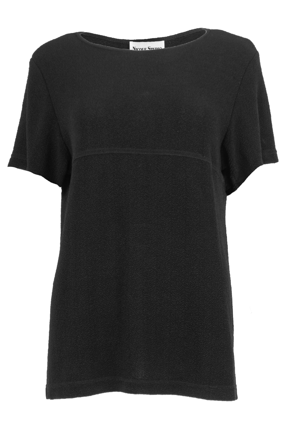 Black vintage t-shirt with seamed stitching