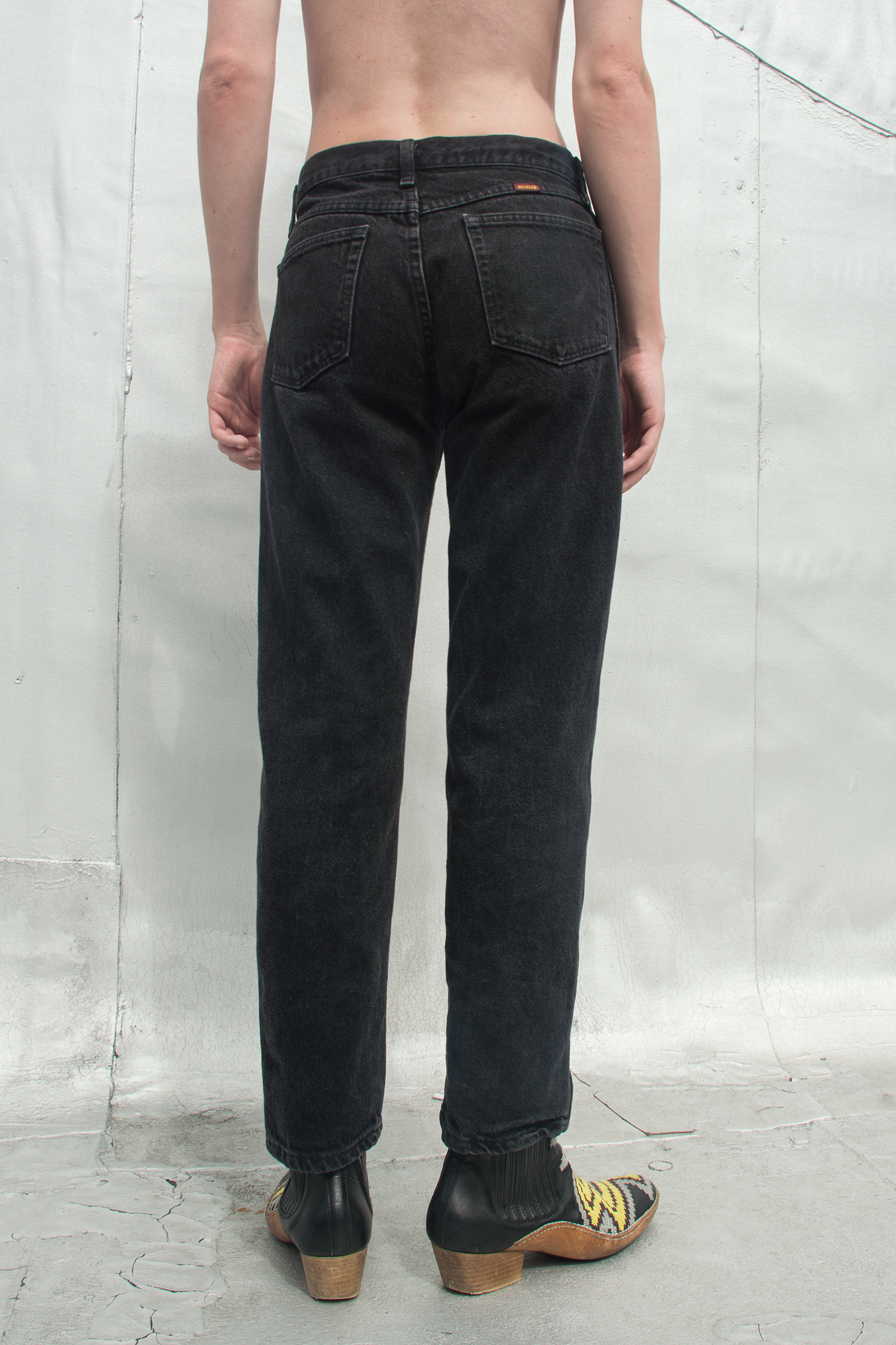 vintage black denim