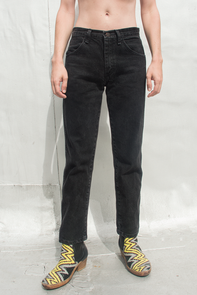 vintage denim in charcoal