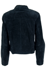 black vintage suede jacket